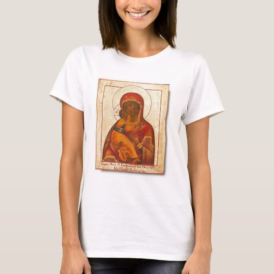 Virgin of Vladimir,    Virgin Mary & Emmanuel J... T-Shirt