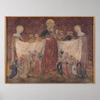 Virgin Protector, c.1417 Poster