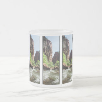 Virgin River At Zion Nat'l Park 10 Oz Frosted Glass Coffee Mug
