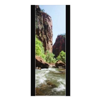 Virgin River At Zion Nat'l Park 4x9.25 Paper Invitation Card