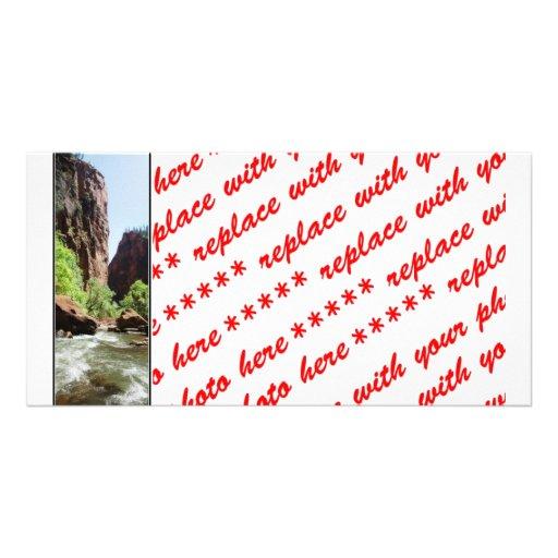 Virgin River At Zion Nat'l Park Photo Card Template