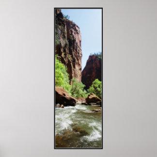 Virgin River At Zion Nat'l Park Print