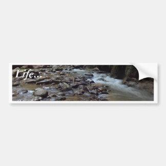 Virgin River Running Through Zion Bumper Sticker