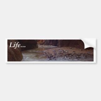 Virgin River Running Through Zion Narrows Bumper Stickers