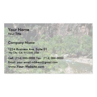 Virgin River Zion National Park Business Card