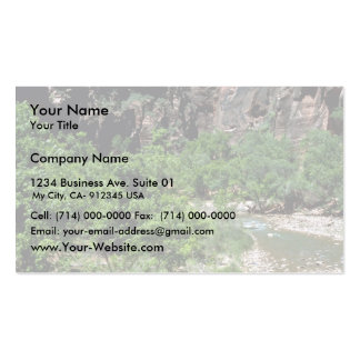 Virgin River Zion National Park Double-Sided Standard Business Cards (Pack Of 100)