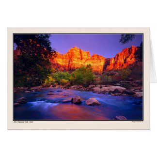 Virgin River - Zion National Park Greeting Card