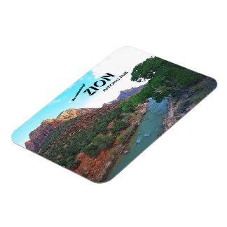 Virgin River ~ Zion National Park, Utah Rectangular Photo Magnet