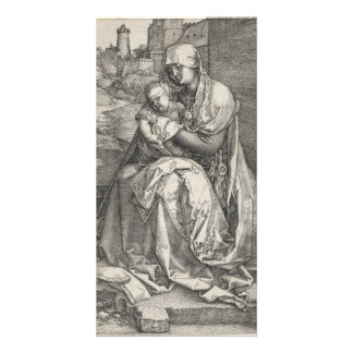 Virgin Sitting by a Wall by Albrecht Durer Personalized Photo Card