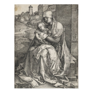 Virgin Sitting by a Wall by Albrecht Durer Postcards
