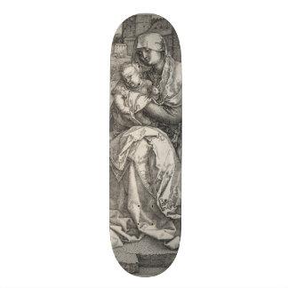 Virgin Sitting by a Wall by Albrecht Durer Skateboard Deck