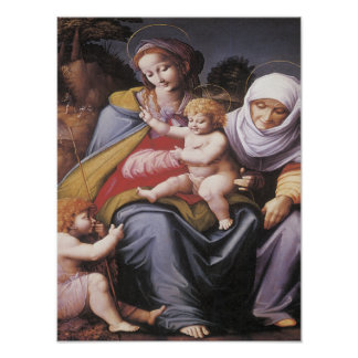 Virgin St. Elizabeth, Child, John the Baptist 1545 Poster