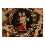 Virgin with a Garland of Flowers, c.1618-20 Cards