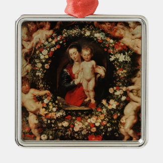 Virgin with a Garland of Flowers, c.1618-20 Metal Ornament
