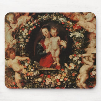 Virgin with a Garland of Flowers, c.1618-20 Mouse Pad