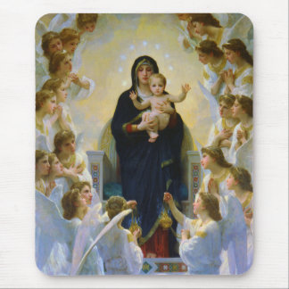 Virgin with Angels Bouguereau Fine Art Mouse Pad