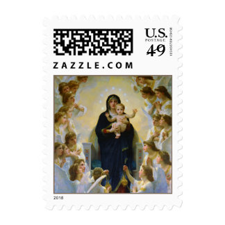 Virgin with Angels Bouguereau Fine Art Stamps