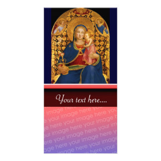 VIRGIN WITH CHILD AND ANGELS 2 PHOTO CARD