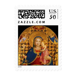 VIRGIN WITH CHILD AND ANGELS 2 POSTAGE