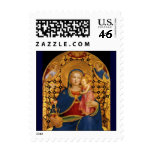 VIRGIN WITH CHILD AND ANGELS 2 POSTAGE STAMP