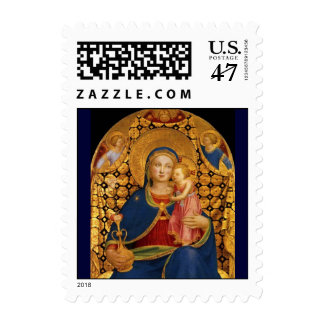 VIRGIN WITH CHILD AND ANGELS 2 STAMP