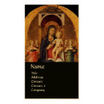 VIRGIN WITH CHILD AND ANGELS ,black gold metallic Double-Sided Standard Business Cards (Pack Of 100)