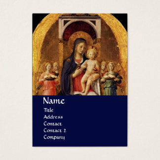 VIRGIN WITH CHILD AND ANGELS ,blue Business Card