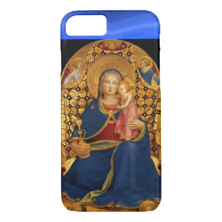 VIRGIN WITH CHILD AND ANGELS ,Blue Sapphire iPhone 8/7 Case