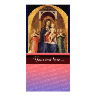 VIRGIN WITH CHILD AND ANGELS CARD