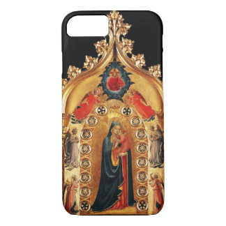 VIRGIN WITH CHILD AND ANGELS GOLD SACRED ART ICON iPhone 8/7 CASE