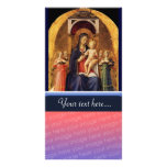 VIRGIN WITH CHILD AND ANGELS PHOTO CARD