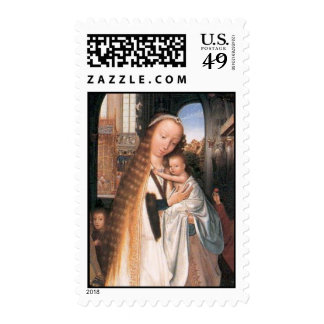 VIRGIN WITH CHILD AND ANGELS POSTAGE STAMPS