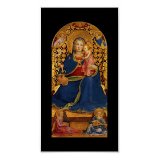 VIRGIN WITH CHILD AND ANGELS POSTER