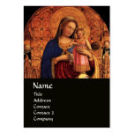 VIRGIN WITH CHILD AND SAINTS ,black Large Business Cards (Pack Of 100)