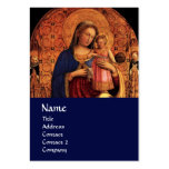 VIRGIN WITH CHILD AND SAINTS ,blue Large Business Cards (Pack Of 100)