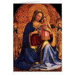 VIRGIN WITH CHILD AND SAINTS ,Blue Sapphire Greeting Cards
