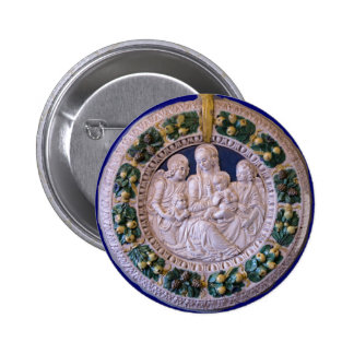 VIRGIN WITH CHILD AND SAINTS BUTTON