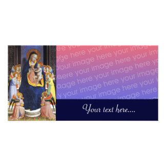 VIRGIN WITH CHILD AND SAINTS CARD