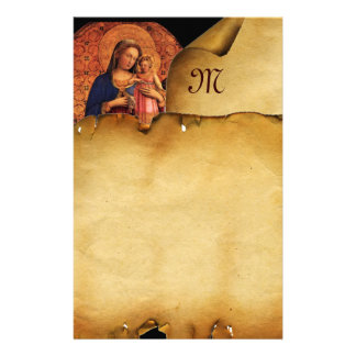 VIRGIN WITH CHILD AND SAINTS , Parchment Monogram Stationery