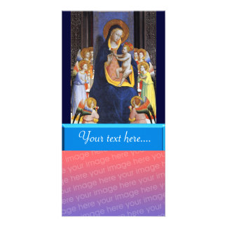 VIRGIN WITH CHILD AND SAINTS PHOTO CARD