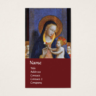VIRGIN WITH CHILD AND SAINTS ,red Business Card