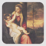 Virgin with Child at Sunset, 1560 Square Sticker