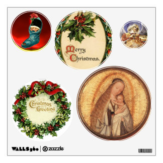 VIRGIN WITH CHILD CHRISTMAS DECOR COLLECTION WALL DECAL