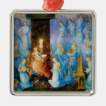 VIRGIN WITH CHILD -CONCERT OF ANGELS,Blue Sapphire Ornament