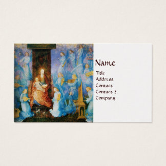 VIRGIN WITH CHILD - CONCERT OF ANGELS pearl paper Business Card
