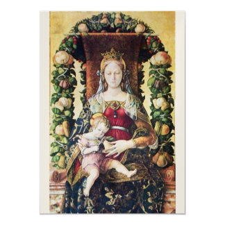 VIRGIN WITH CHILD  Gold Metallic Paper Card