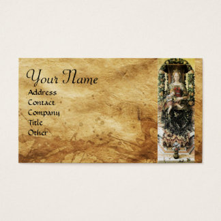 VIRGIN WITH CHILD MONOGRAM Parchment Business Card