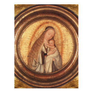VIRGIN WITH CHILD Parchment Postcard