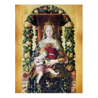 VIRGIN WITH CHILD , Parchment Post Cards