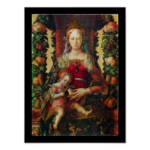 VIRGIN WITH CHILD particular 2 Poster